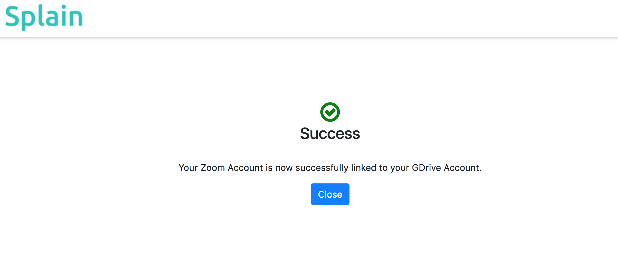 This completes connecting your zoom and drive accounts.